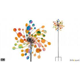 Kinetic Spinner Confettis - Éolienne de jardin en métal peint 48cm