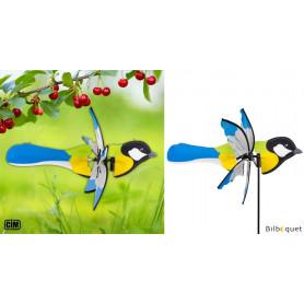 Éolienne 2 en 1 - Oiseau Mésange