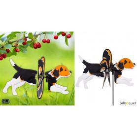 Éolienne 2 en 1 - Chien Beagle