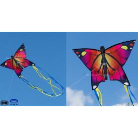 Monofil Papillon rose 58x40cm - Cerf-volant enfant