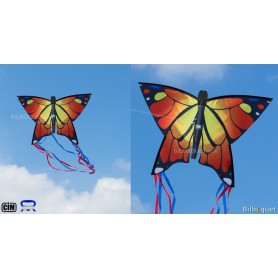 Monofil Papillon orange 58x40cm - Cerf-volant enfant