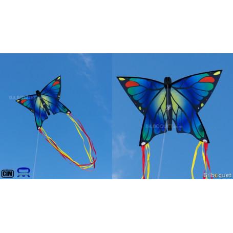 Monofil Papillon bleu 58x40cm - Cerf-volant enfant