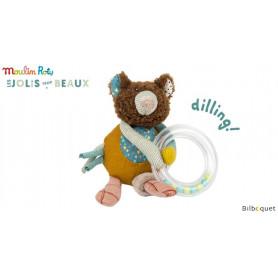 Hochet-anneau ours brun - Les Jolis Trop beaux