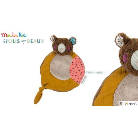 Doudou Attache-tétine - Ours brun - Les Jolis Trop Beaux