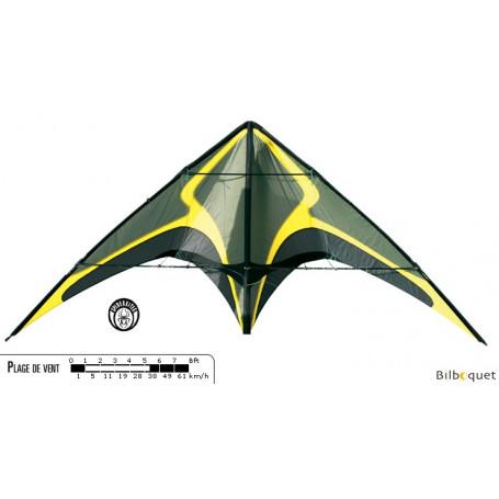 Zodarion jaune cerf-volant acrobatique (nu)