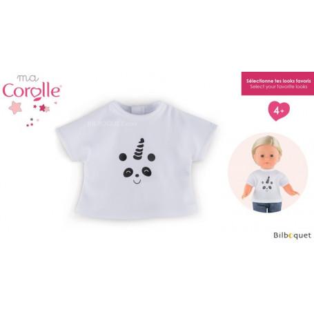T-shirt Pandicorn - Haut pour poupée Ma Corolle 36cm