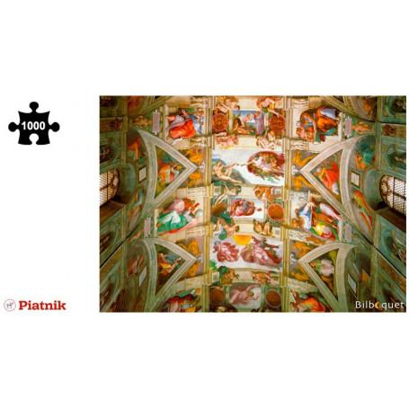 Puzzle 1000 pièces Michel-Ange - Le plafond de la chapelle Sixtine