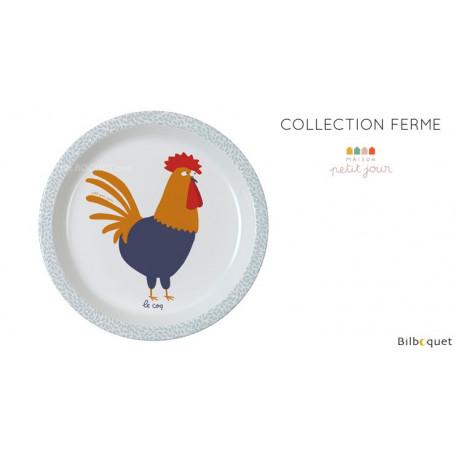 Assiette bébé - Ø18cm - La Ferme - Maison Petit Jour