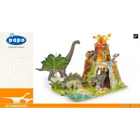 La terre des dinosaures en carton