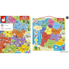 Puzzle Carte de France Magnétique - Janod