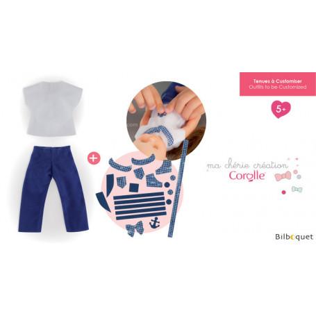 Ensemble t-shirt & pantalon à customiser pour poupée ma chérie création 33cm
