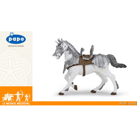 Cheval en armure - Figurine Le monde médiéval - Papo