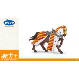 Cheval de tournoi - Figurine Le monde médiéval - Papo