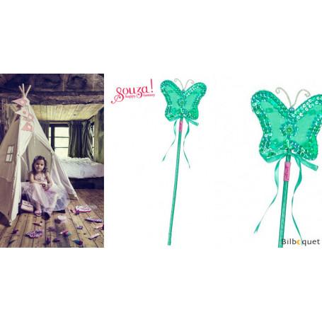 Baguette magique papillon Lucine - menthe - Accessoire fille