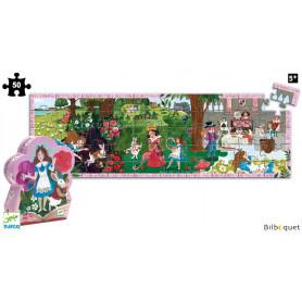 Puzzle Silhouette Alice aux pays des merveilles 50 pièces