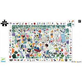 Puzzle observation 1000 Fleurs (100 pièces)
