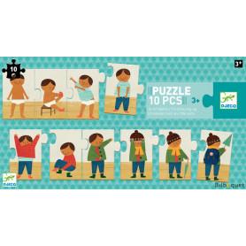 Puzzle fresque Je m'habille (10 pièces)