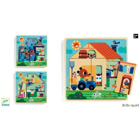Chez Gaby - Puzzle 3 Niveaux en bois