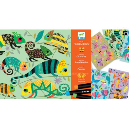 Pastels à l'huile - Jungle colorée 6-11ans