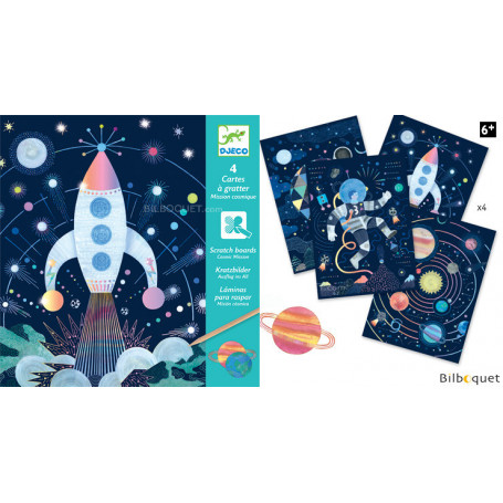 Cartes à gratter - Mission cosmique - Petits Cadeaux