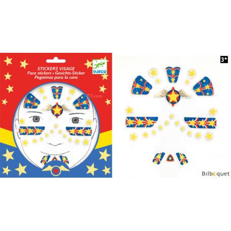 Sticker visage - Tatouage Super hero