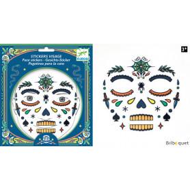 Sticker visage - Tatouage Tête de mort