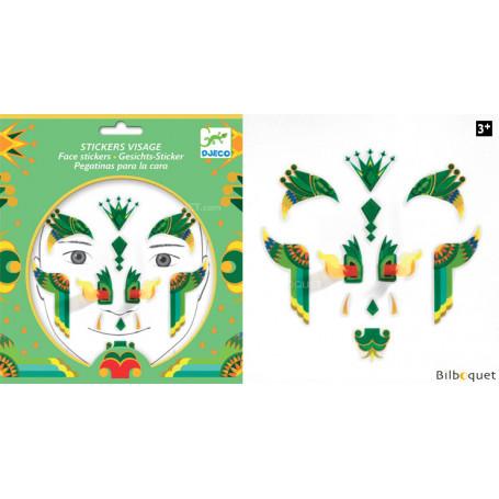 Sticker visage - Tatouage Dragon