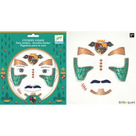 Sticker visage - Tatouage Chevalier