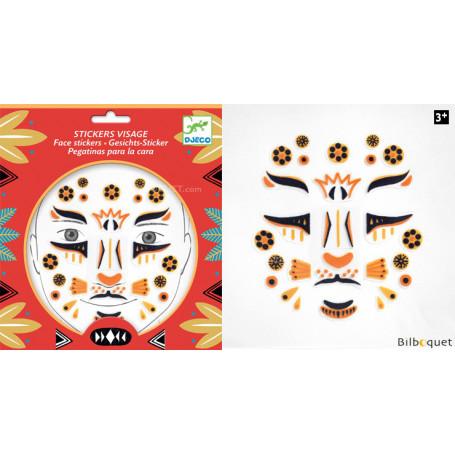 Sticker visage - Tatouage Léopard