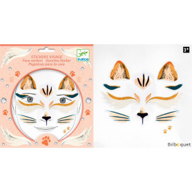 Sticker visage - Tatouage Chat