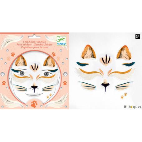 Sticker visage - Tatouage Chat