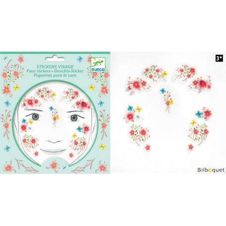 Sticker visage - Tatouage Fée du printemps