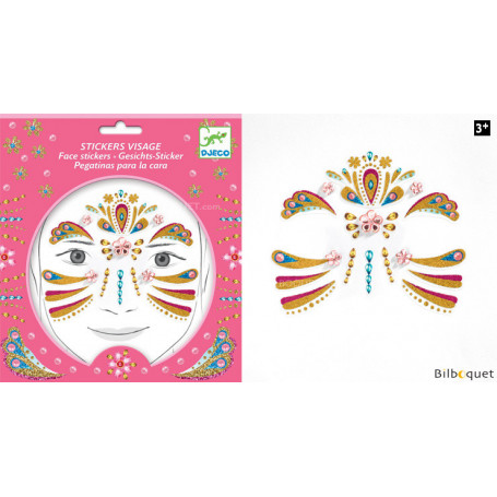 Sticker visage - Tatouage Princesse Or