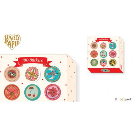 100 Stickers Aurélia - Papeterie Djeco
