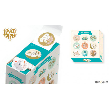 100 Stickers Lucille - Papeterie Djeco