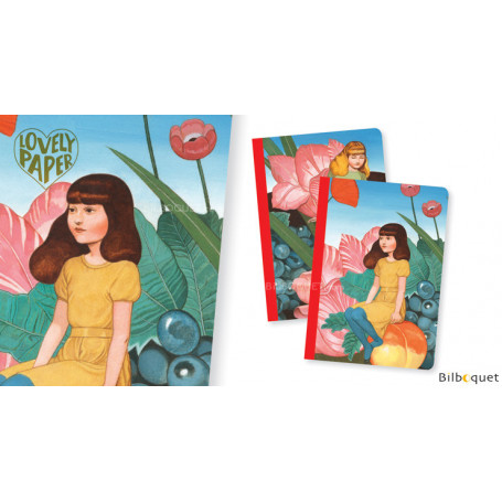 2 petits carnets Fédora  - Papeterie Djeco