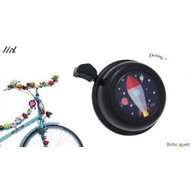 Sonnette de vélo Fusée noire - Liix Colour Bell Ø60mm