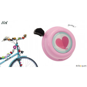 Sonnette de vélo Coeur rose - Liix Colour Bell Ø60mm
