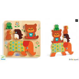 Woodypile - Puzzle relief en bois