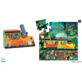 La locomotive - Puzzle Silhouette 16 pièces