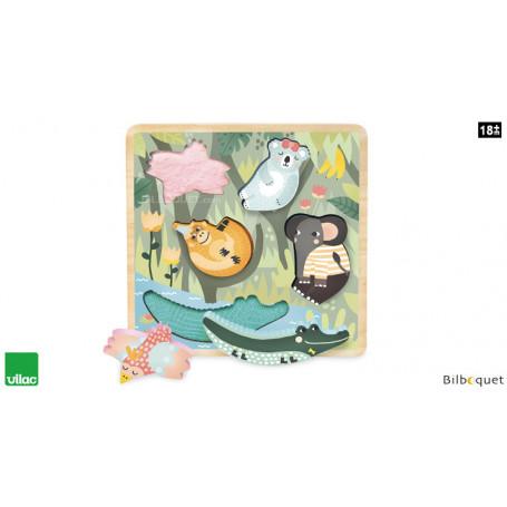 Puzzle/Encastrement tactile Jungle Michelle Carlslund
