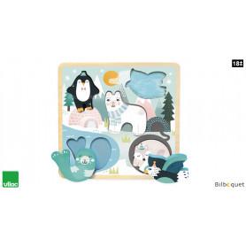 Puzzle/Encastrement tactile Banquise Michelle Carlslund