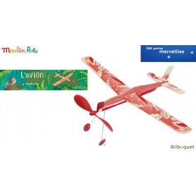 L'avion à élastique rouge - Les petites merveilles