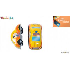 Voiture à friction jaune - Les jouets métal - Moulin Roty