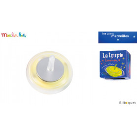 Toupie lumineuse jaune - Les petites merveilles