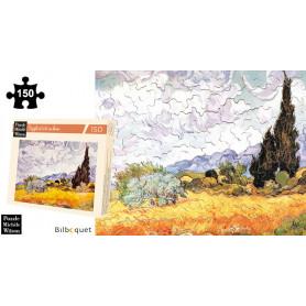 Les blés jaunes - Van Gogh - Puzzle d'art en bois 150 pièces