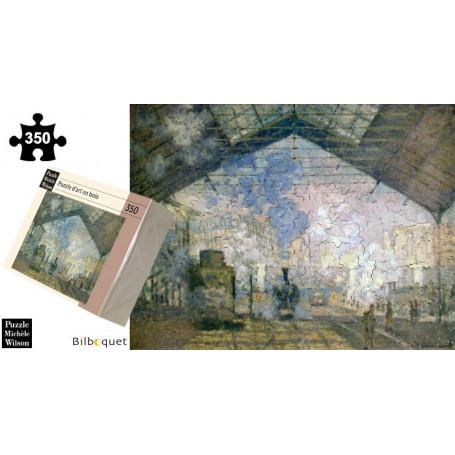 La gare Saint-Lazare - Monet - Puzzle d'art en bois 350 pièces