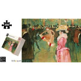 Bal au moulin rouge - Toulouse Lautrec - Puzzle d'art en bois 350 pièces
