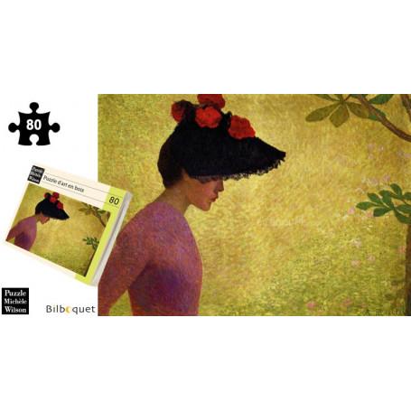 Jeune fille de Profil - Aristide Maillol - Puzzle d'art en bois 80 pièces
