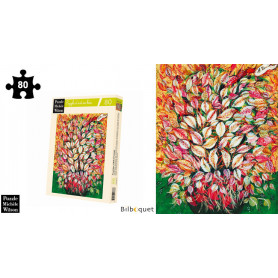 Feuilles HC Séraphine - Senlis - Puzzle d'art en bois 80 pièces